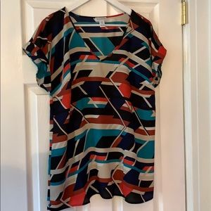 Motherhood Maternity Geometric Print Top